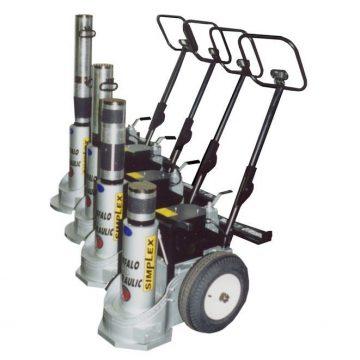 TK Simplex Electric Hydraulic Railcar Jacks