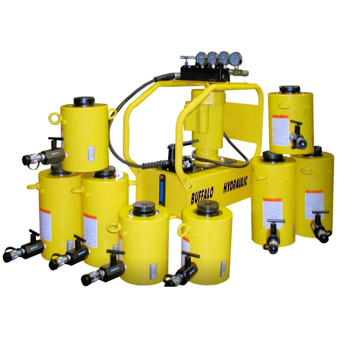 Enerpac Electric Hydraulic Bridge Jacking System Buffalo Hydraulics And Electricity 8 Point High Tonnage
