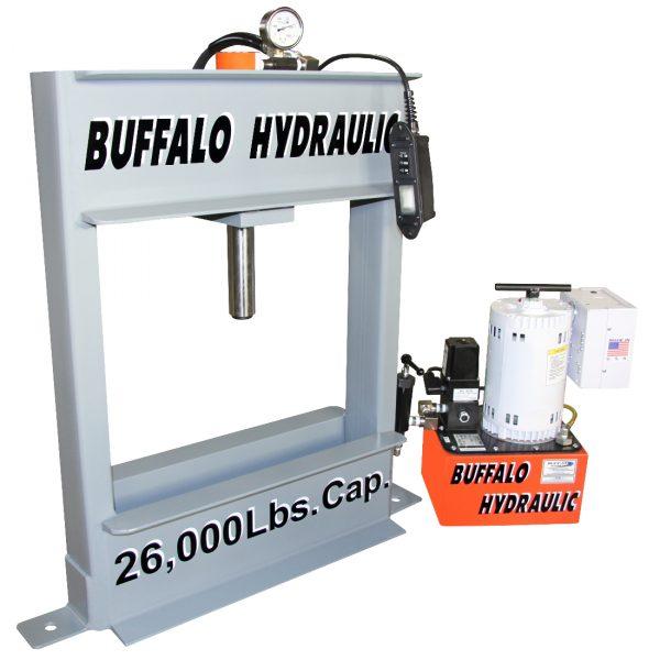 power-team-custom-electric-hydraulic-h-frame-press